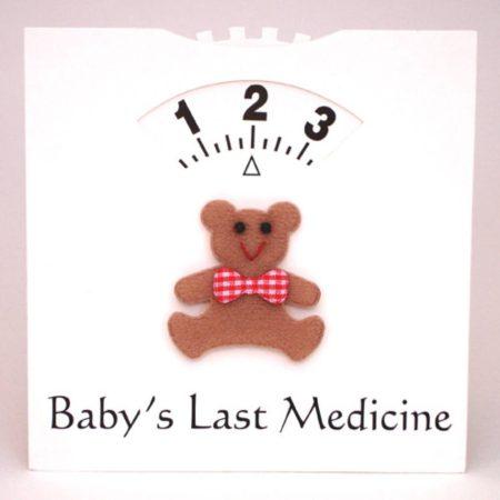 Baba utolsó gyógyszere- emlékeztető tábla