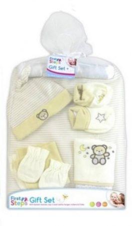 Baba textil kiegészítő ajándékcsomag - krém