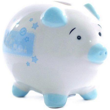 Kékszínű mini szerencsemalac persely