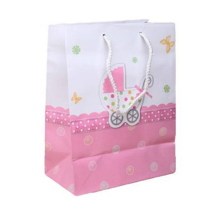 Babakocsis ajándéktáska - rózsaszín