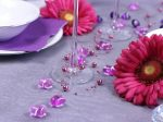 Szív alakú díszítő kő - pink