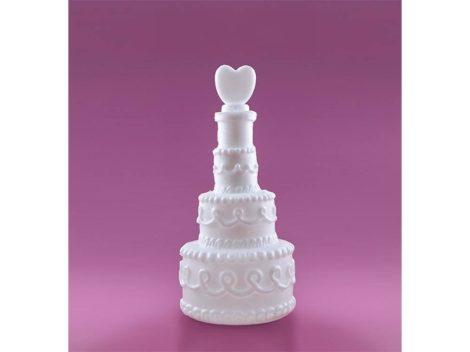 Esküvői torta szívvel szappanbuborékfújó