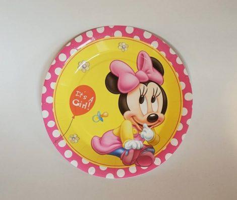 Baby Minnie tányér 23 cm  (6 db-os szett)