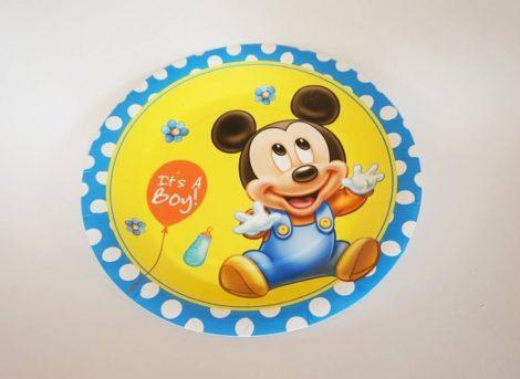 Baby Mickey tányér 23 cm  (6 db-os szett)