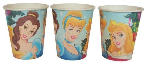 Disney hercegnők pohár (6 db-os szett)