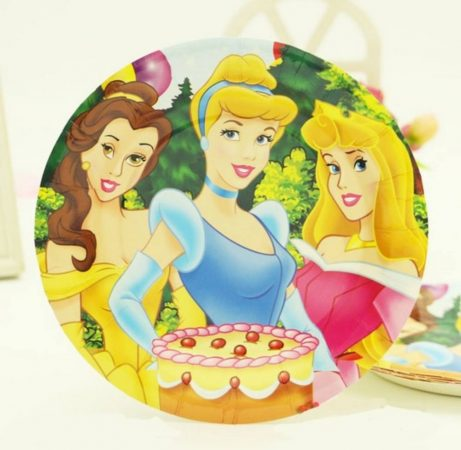 Disney hercegnős tányér 18 cm  (6 db-os szett)