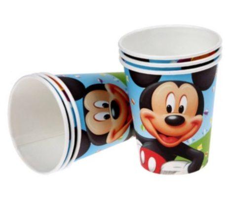 Mickey egér pohár (6 db-os szett)