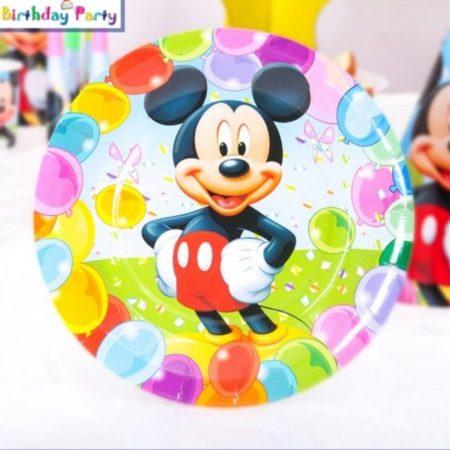 Mickey egér tányér 23 cm  (6 db-os szett)