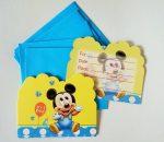 Baby Mickey party meghívó