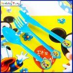 Baby Mickey műanyag kés (6 db-os szett)