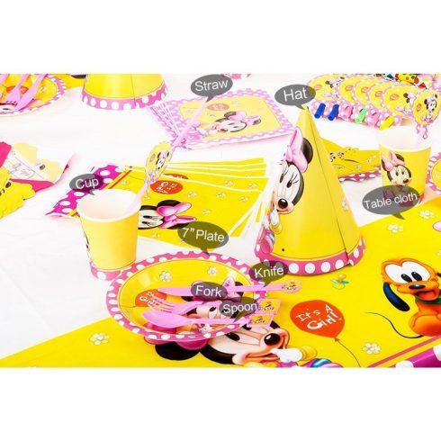 Baby Minnie műanyag kanál (6 db-os szett)