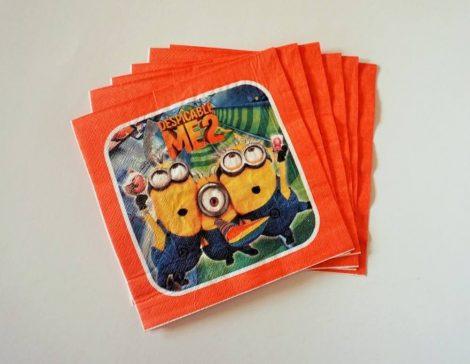 Minion party szalvéta (10 db-os)