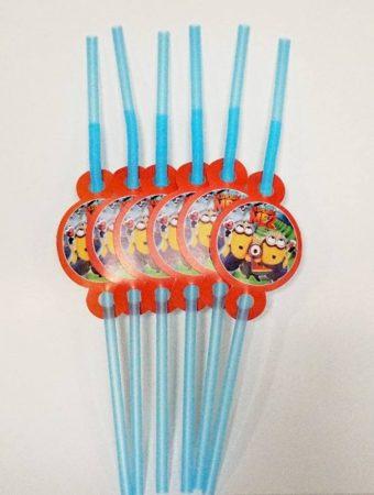 Minion party szívószál (6 db-os csomag)