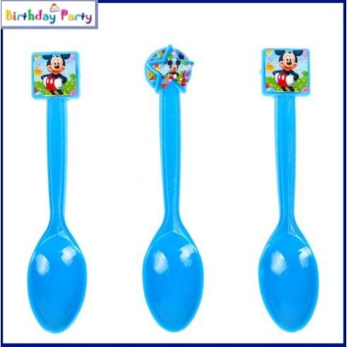 Mickey műanyag kanál (6 db-os szett)