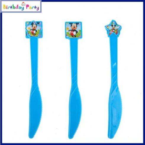Mickey egeres műanyag kés (6 db-os szett)