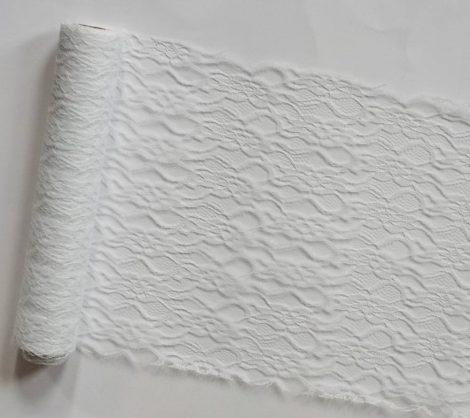 Csipke futó fehér- (29 cm * 5 m)