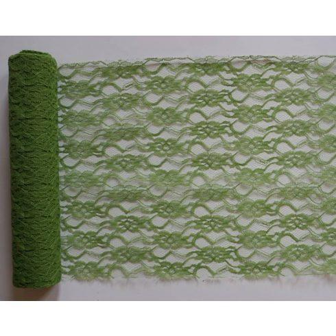 Csipke futó zöld- (29 cm * 5 m)