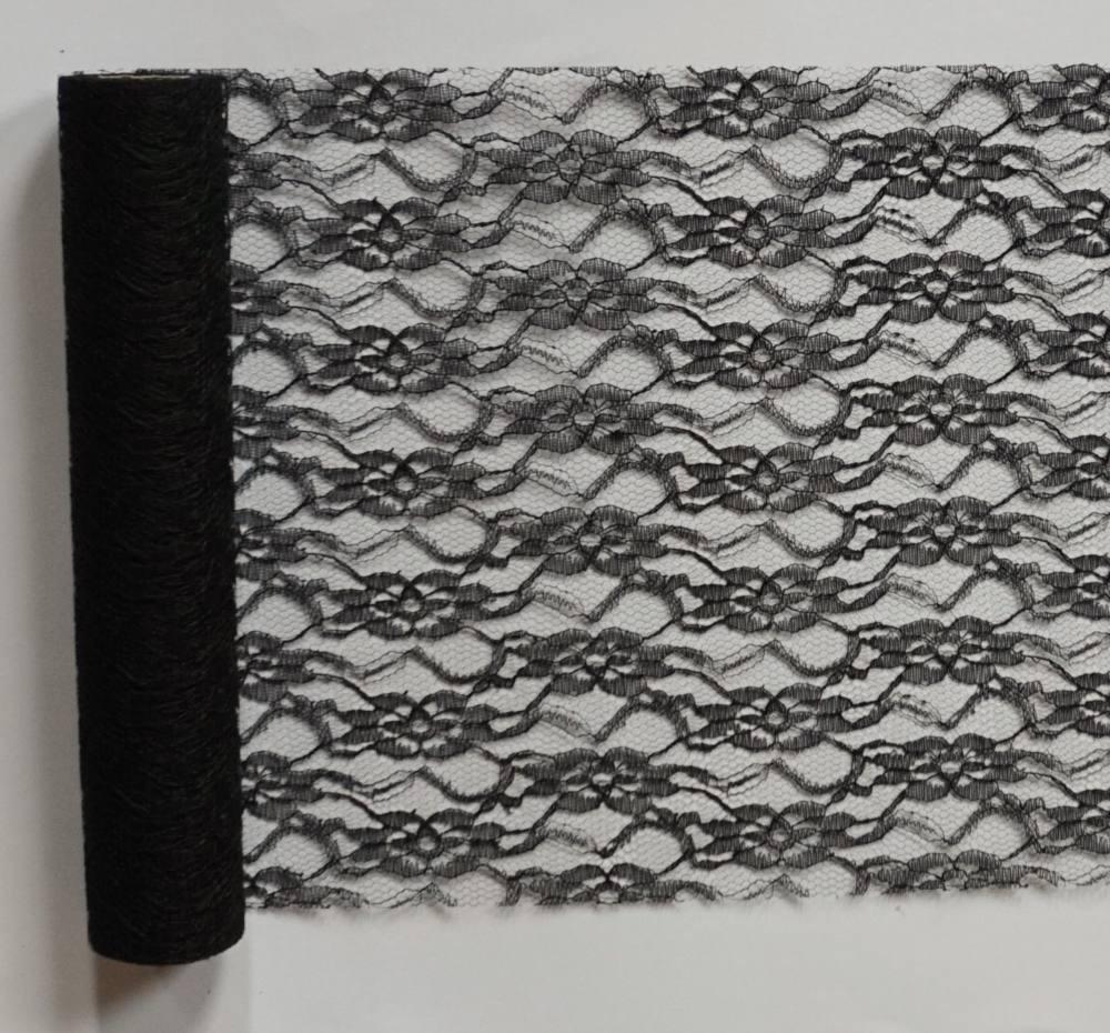 224f0f428b Csipke futó fekete- (29 cm * 5 m) - Köszönettel.hu esküvői webáruház