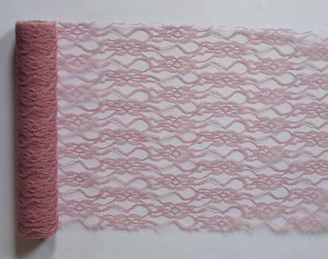 Csipke vintage rózsaszín - (29 cm * 5 m)