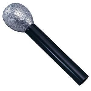 Glitteres műanyag mikrofon