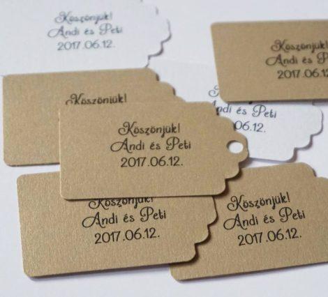 Feliratozott ajándékkártya több színben