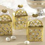 Lámpás alakú köszönetajándék doboz - arany (utolsó 30 db)