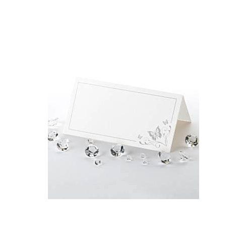Ezüst pillangóval díszített ültetőkártya