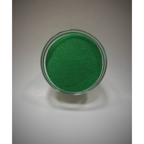 Dekorhomok - finomszemcsés klasszikus zöld 250 g - CSAK A NÁLUNK VÁSÁROLT HOMOKÖNTŐ SZETTEKHEZ VÁLASZTHATÓ HOMOK