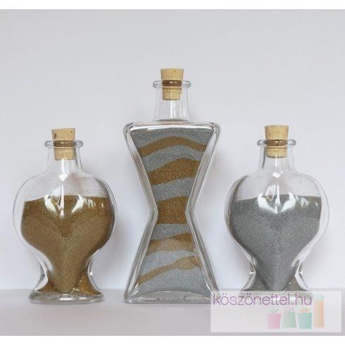 Dekorhomok - finomszemcsés metálarany kb. 280 ml / 450 g