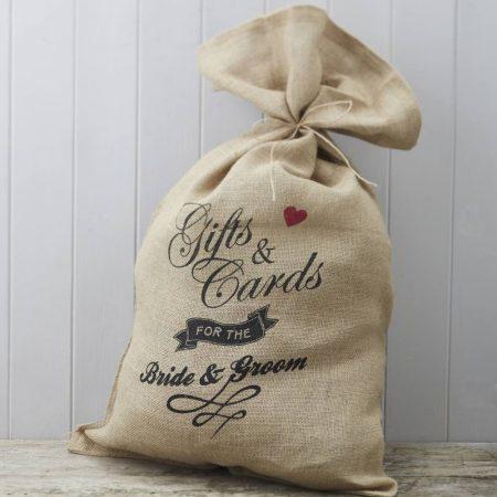 Esküvői jókívánság/nászajándék gyűjtő vászonzsák (80*50 cm)