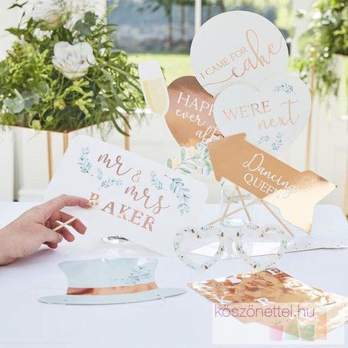 Feliratozható esküvői fotósarok készlet (10 db-os)