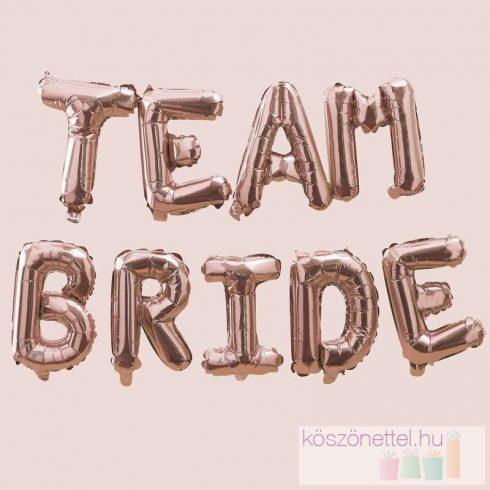 Team Bride rose gold fólialufi felirat (35 x 200 cm)