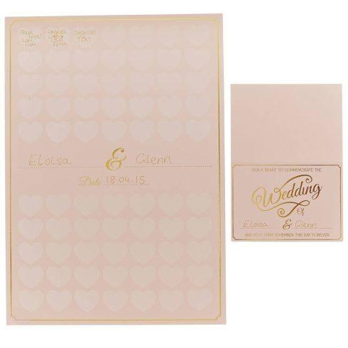 Szíves poszter - alternatív esküvői vendégkönyv