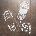 Mikulás lábnyom sablon