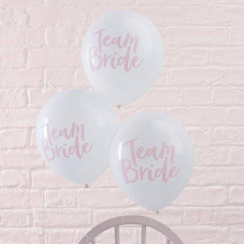 Team Bride - lánybúcsú lufi