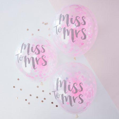 MISS TO MRS konfettis lufi