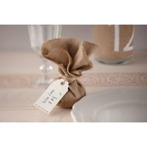 Krém színű ajándékkártya (10 db-os csomag)  - UTOLSÓ 6 CSOMAG RAKTÁRON