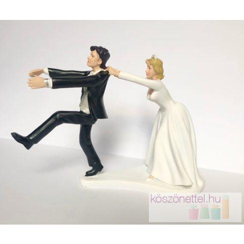 """""""Nem menekülsz!"""" Esküvői tortadísz"""