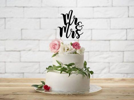 """""""Mr&Mrs"""" karton tortadísz"""