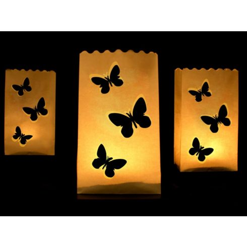 Pillangós mécsestartó papírlampion