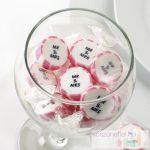 Mr & Mrs rózsaszín-fehér cukorka