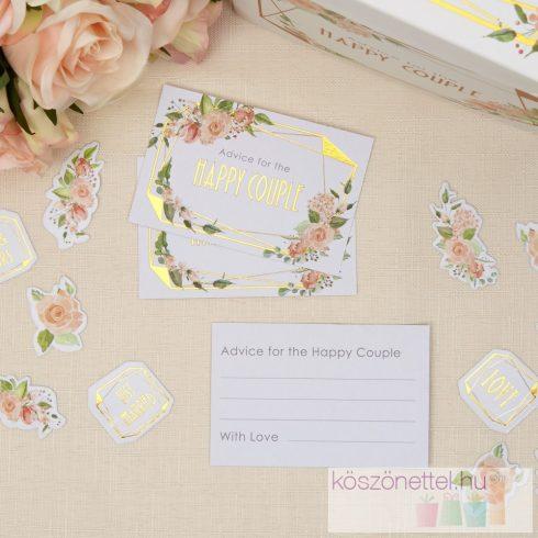 Jókívánság kártyák - Geo-virág kollekció (25 db-os csomag)