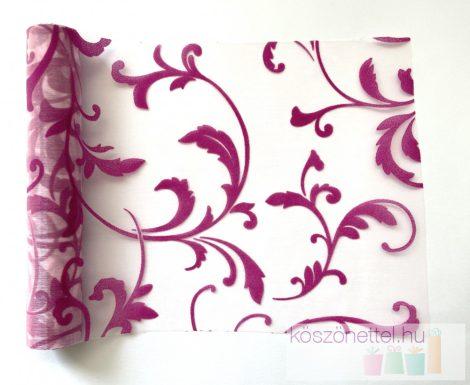 Indamintás organza futó pink - 23 cm