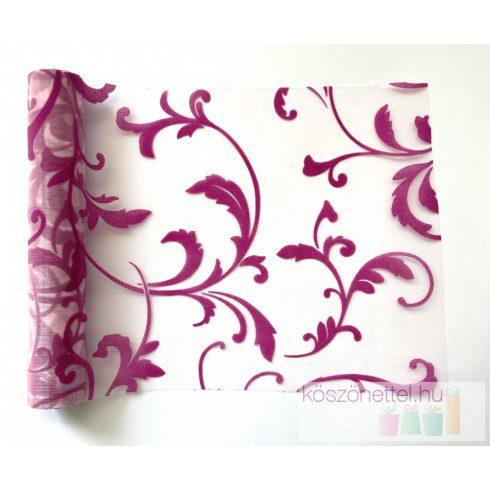 Indamintás organza futó pink - 23 cm (utolsó 4 db raktáron)