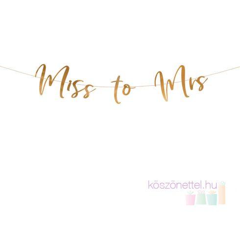 Miss to Mrs  Rose gold lányúcsú dekorációs felirat