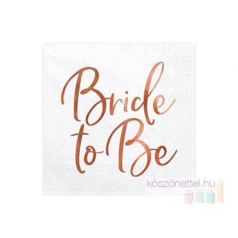 Bride to be szalvéta  (20 db-os csomag)