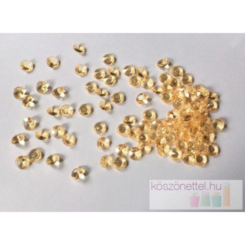 Gyémánt alakú dekorkő 12 mm - arany