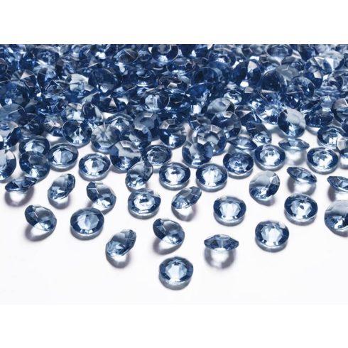 Gyémánt alakú dekorkő 12 mm - sötétkék