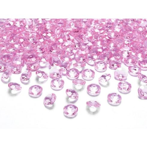 Gyémánt alakú dekorkő 12 mm - világos rózsaszín