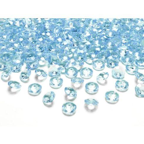 Gyémánt alakú dekorkő 12 mm - türkiz